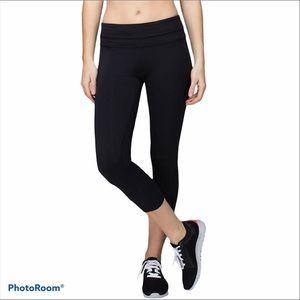 Lululemon Run Inspire Crop II Black Pants/Leggings